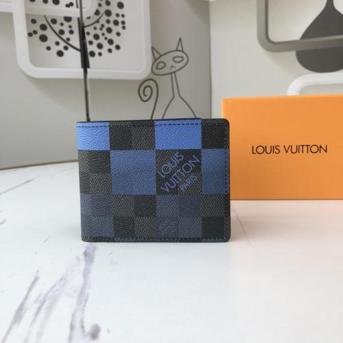 MULTIPLE WALLET N40414 White/Blue/Orange