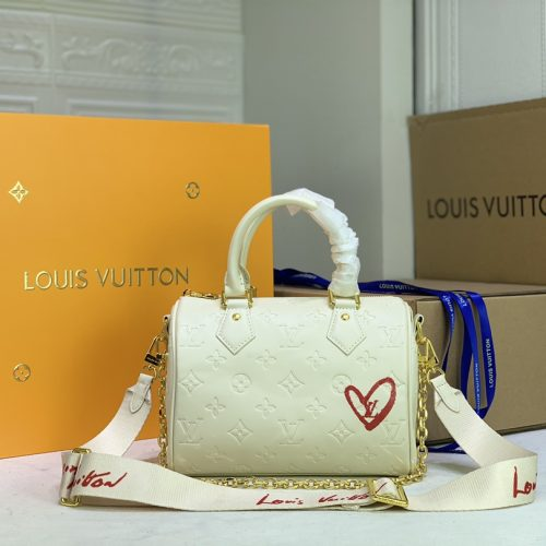 Limited edition Speedy Bandoulière 22 White/Pink
