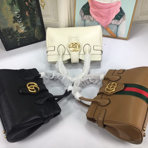 Small top handle bag with Double G